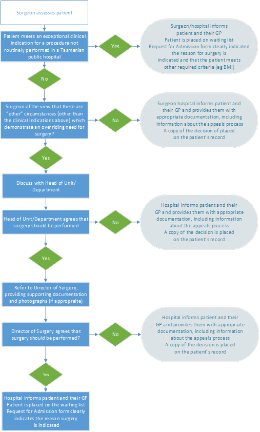 A visual representation of the Hospital Approval Process documented in the previous section
